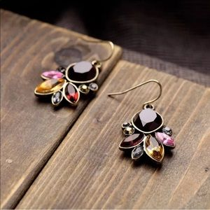 Jewelry - 5🌟💎 Beautiful Fall Purple Brown Dangle Earrings